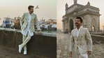 Anil Kapoor poses at the Gateway of India.