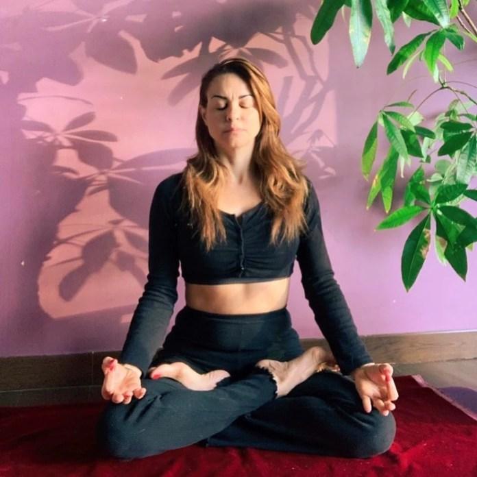 Padmasana or lotus pose of Yoga(Instagram/agora.yoga)