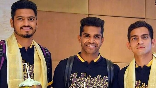 कोलकाता नाइट राइडर्स टीम रविवार को सनराइजर्स हैदराबाद (KKR / Instagram) के खिलाफ अपने शुरुआती मैच के लिए चेन्नई पहुंची