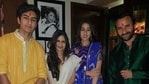 Saba Ali Khan shared this unseen picture with Saif Ali Khan, Sara Ali Khan and Ibrahim Ali Khan, taken on Diwali 2016.