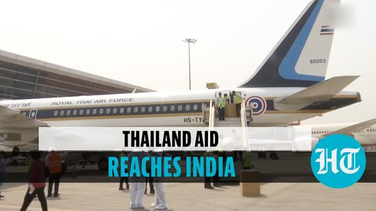 Special flight carrying medical aid from Thailand lands in New Delhi