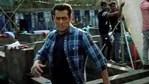 Salman Khan on the sets of Radhe.