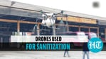 Drones used for sanitising public places in Kerala's Thrissur