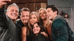 The FRIENDS gang during the episode.