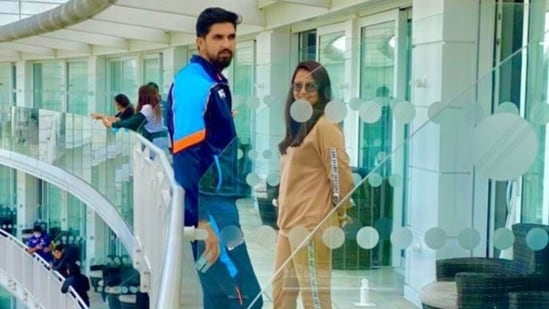 India pacer Ishant Sharma with his wife