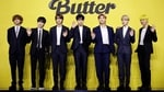 Members of K-pop boy band BTS pose for photographs during a photo opportunity promoting their new single Butter in Seoul, South Korea, May 21, 2021.(REUTERS)