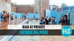 Ghaziabad police conducted a raid at a private swimming pool on June 5
