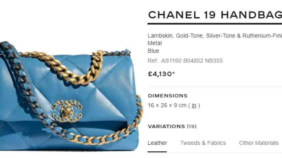 The Chanel 19 handbag(chanel.com)