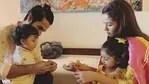 Shahid Kapoor and Mira Rajput with their children, Misha and Zain.