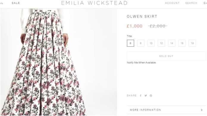 The Olwen skirt.(emiliawickstead.com)