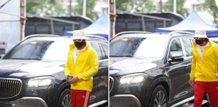 Ranveer Singh was spotted on the set of his upcoming big film, details of which are awaited.