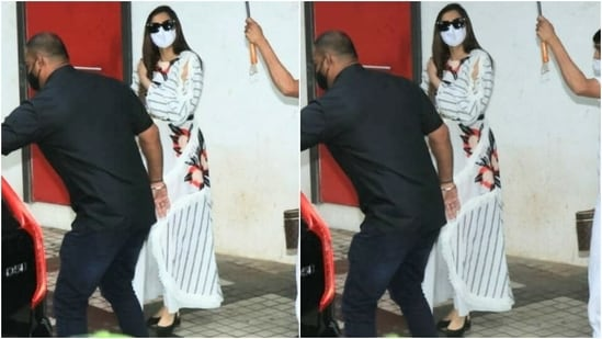 Sonam returned to Mumbai from London last week, and her father, Anil Kapoor, came to the airport to receive her. She was living in London with her husband, Anand Ahuja. Earlier this year, she also shot for her upcoming thriller, Blind, in Scotland.(Varinder Chawla)