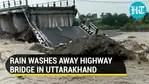 Make-shift bridge washed away in heavy rain; was connecting Dehradun-Rishikesh highway
