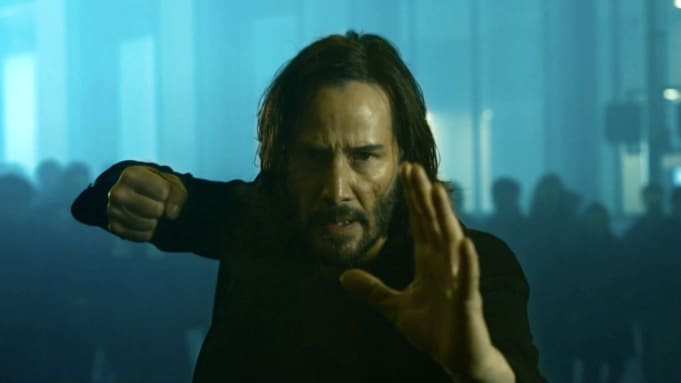 Keanu Reeves' Neo is back inside the Matrix.