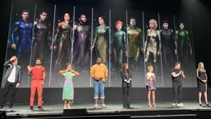 The cast of Marvel's Eternals at San Diego Comic Con.