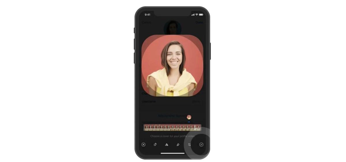 New interface for uploading profile videos on Telegram