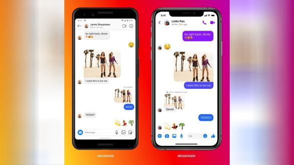 Instagram users can chat with Messenger users and vice versa.