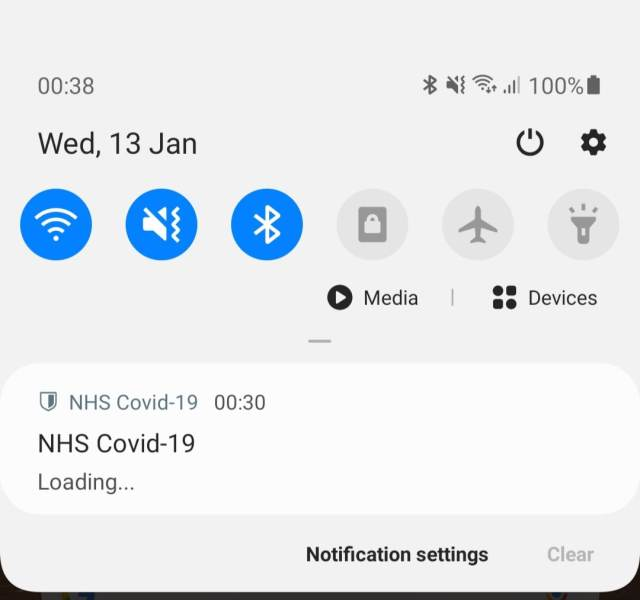 Android Exposure Notification System issue