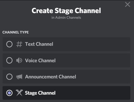 DIscord's new Stage Channels feature.
