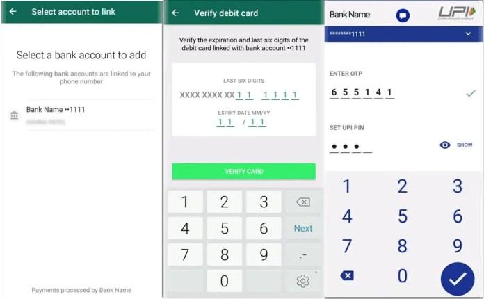बैंक खाते का चयन करने के बाद, आप अपने डेबिट कार्ड का विवरण जोड़ सकते हैं और व्हाट्सएप पे का उपयोग करके पैसे भेजना शुरू करने के लिए एक UPI पिन सेट कर सकते हैं।