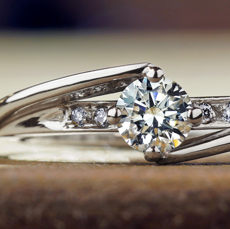 Asymmetrical Engagement Rings Harriet Kelsall