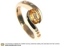 Bespoke 18ct Rose gold twist engagement ring