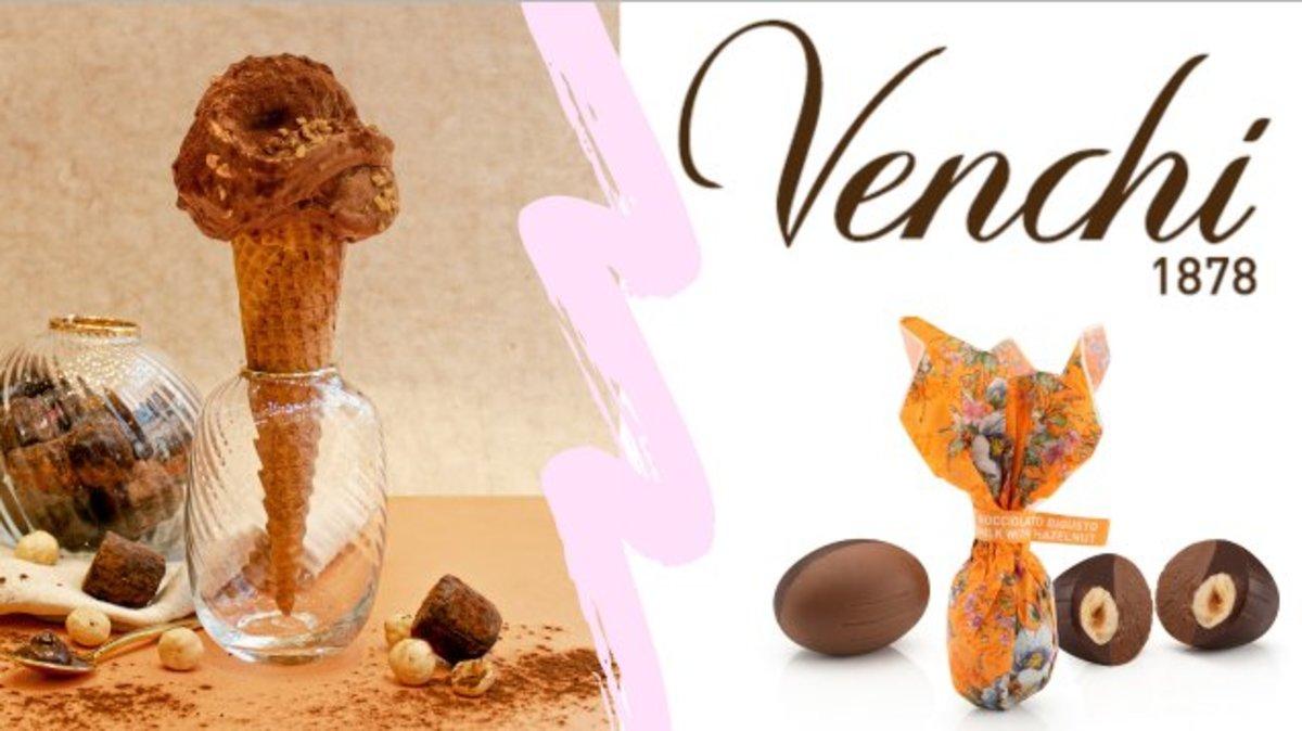 Venchi | 1 套 - 意大利雪糕 (120g) 及 精選春季系列巧克力 (8 粒) 套裝 | 香港電視 HKTVmall 網上購物