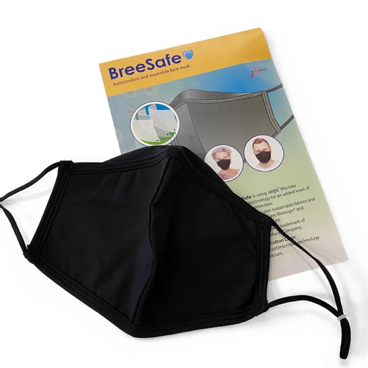 挪威阿斯麥 | BreeSafe 三層可重用抗菌口罩 (黑色) | 香港電視 HKTVmall 網上購物