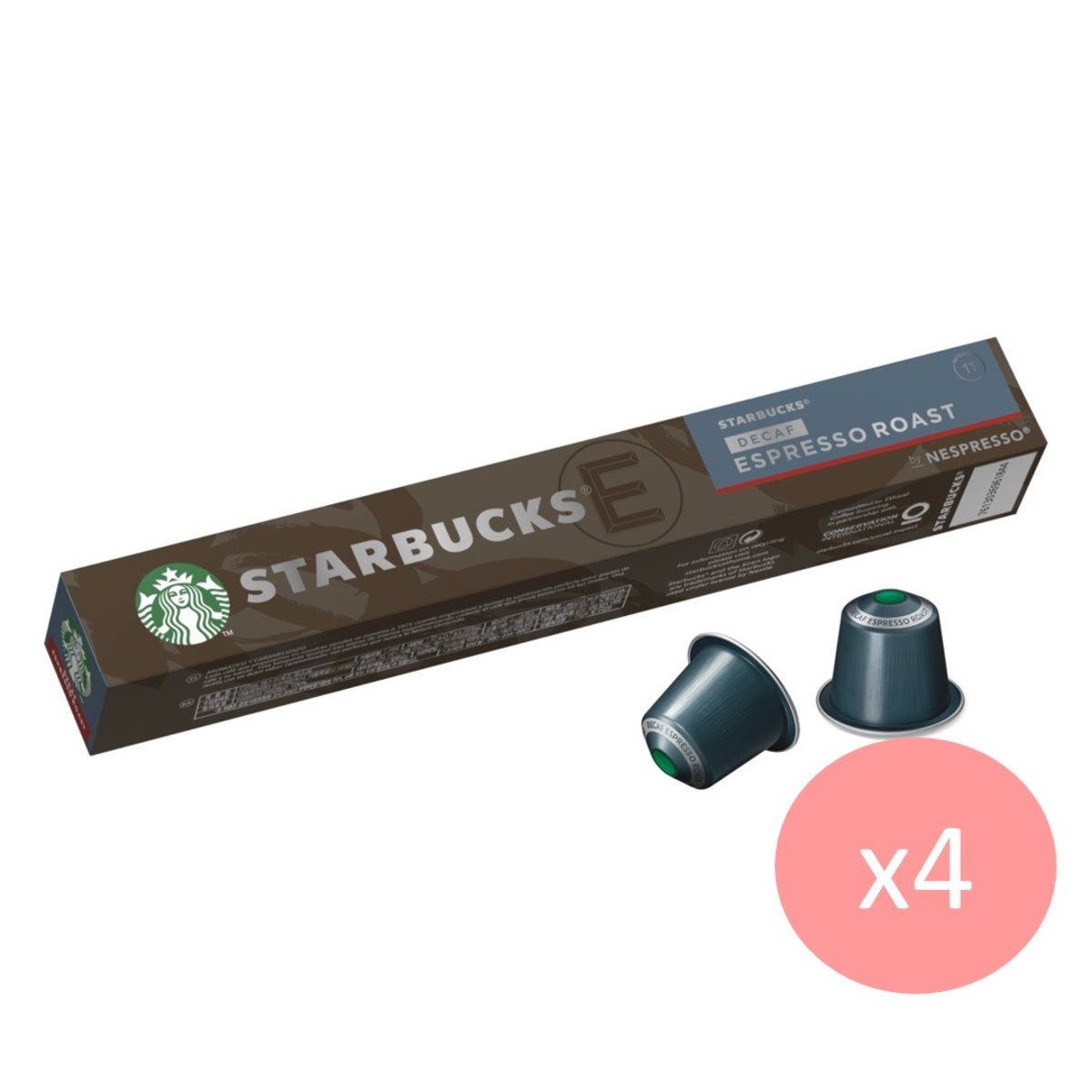 星巴克® | Starbucks by Nespresso – Decaf Espresso Roast x 4 | 香港電視 HKTVmall 網上購物