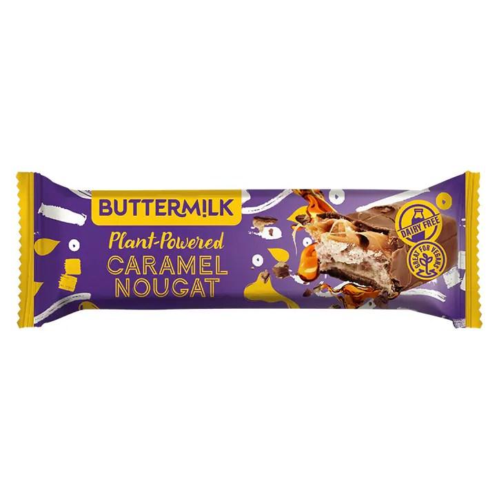 Buttermilk Plant Powered Caramel Nougat Bar 50g