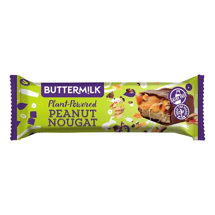 Buttermilk Plant Powered Peanut Nougat Caramel Snack Bar 50g