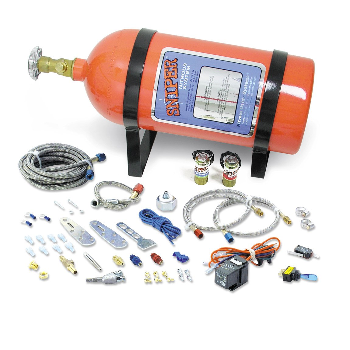hight resolution of nos 07006nos nos sniper single fogger multi fit wet nitrous kit nos launcher 8 pin wire harness