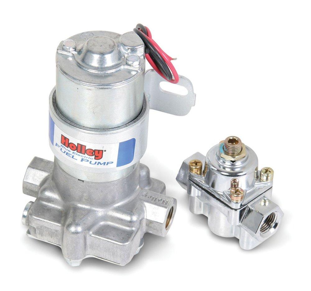 medium resolution of holley 12 802 1 110 gph blue electric fuel pump with regulator psi fuel pump wiring harness