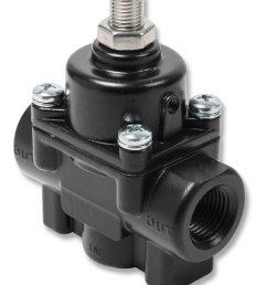 12850erl earls adjustable fuel pressure regulator carbureted black 1 4 psi [ 3115 x 4155 Pixel ]