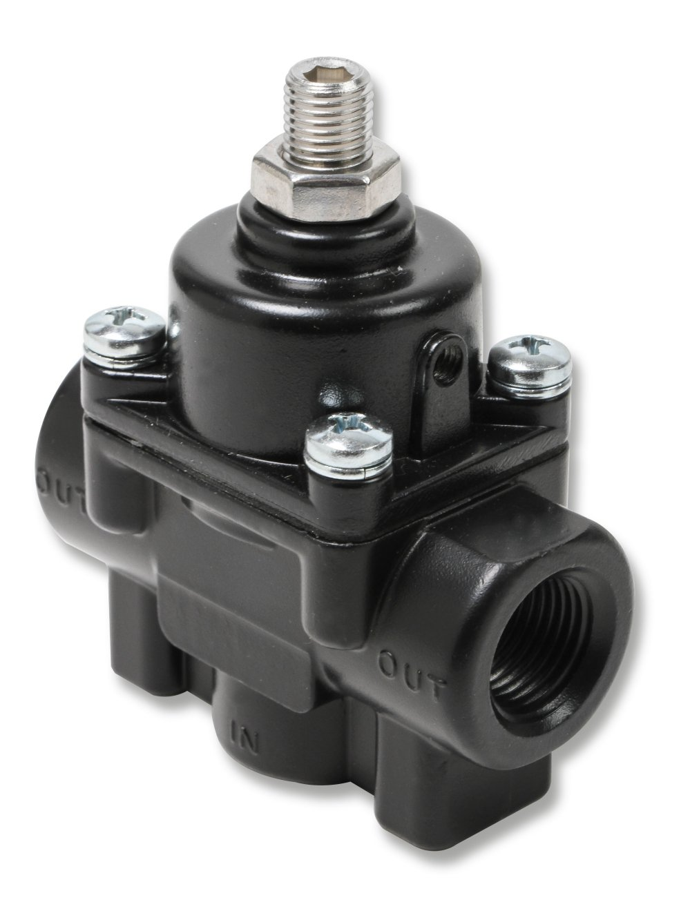 medium resolution of 12850erl earls adjustable fuel pressure regulator carbureted black 1 4 psi