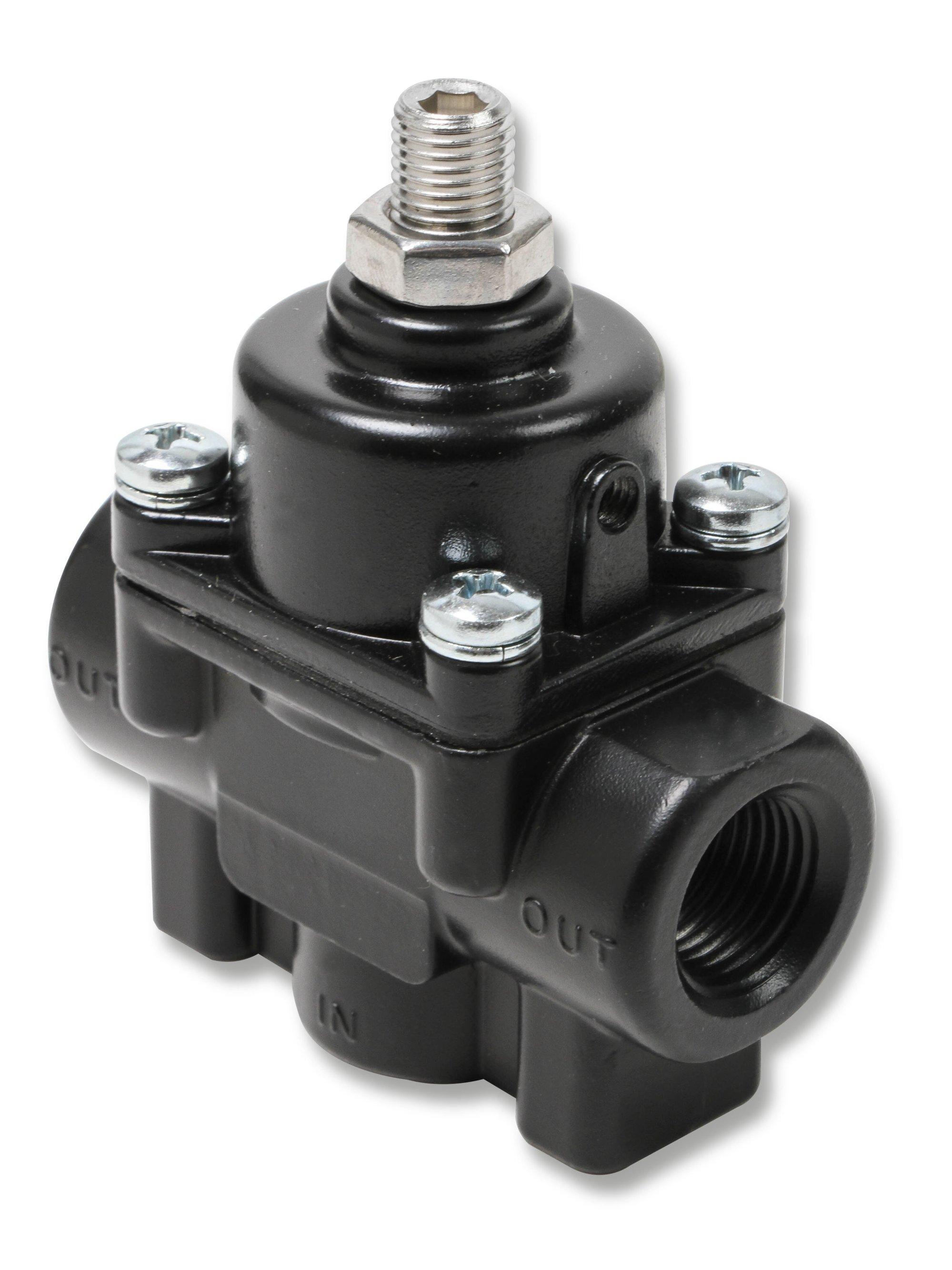 hight resolution of 12850erl earls adjustable fuel pressure regulator carbureted black 1 4 psi