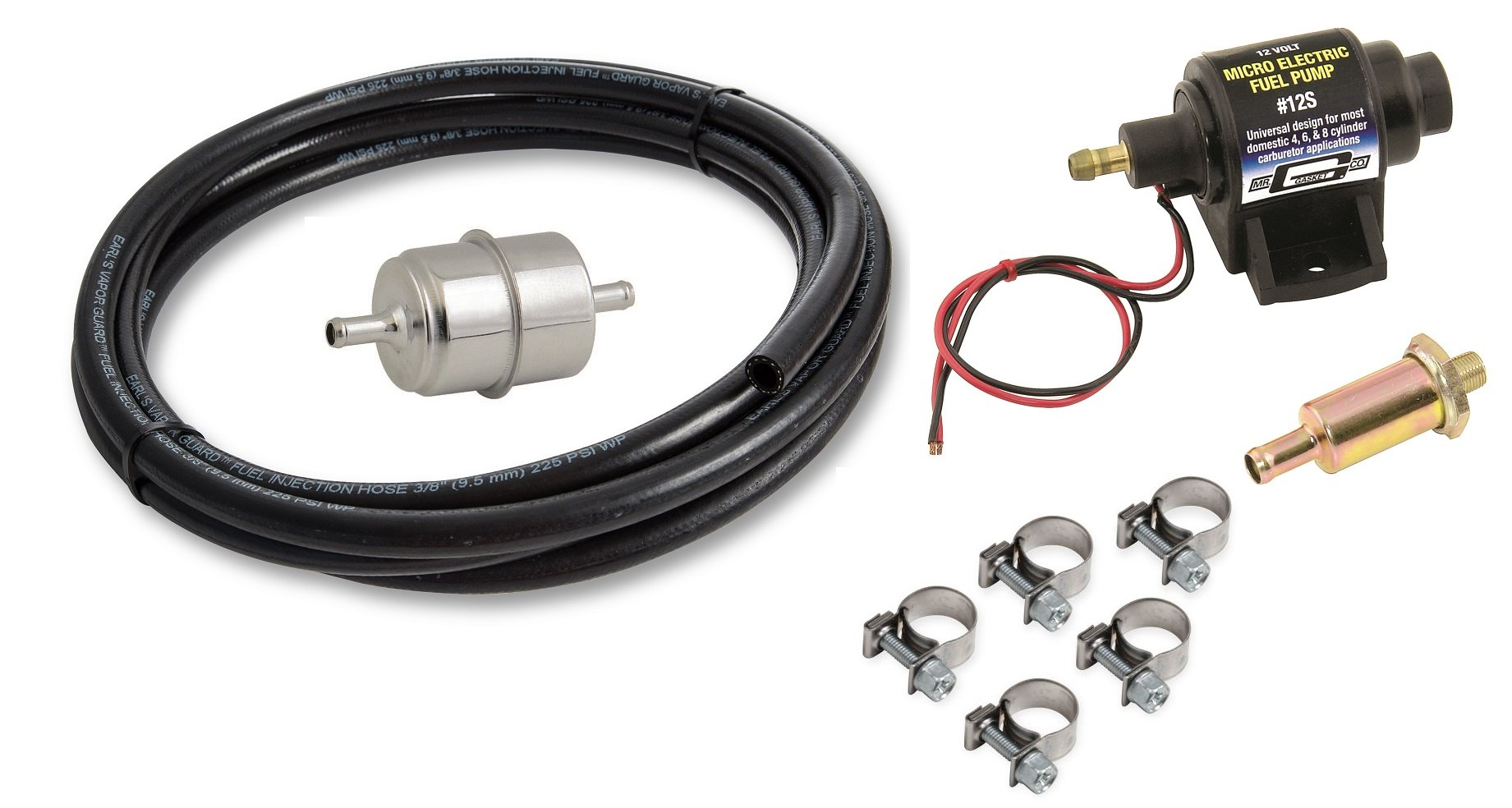 Holley Kits Vk Electric Fuel Pump Micro Kit W 10
