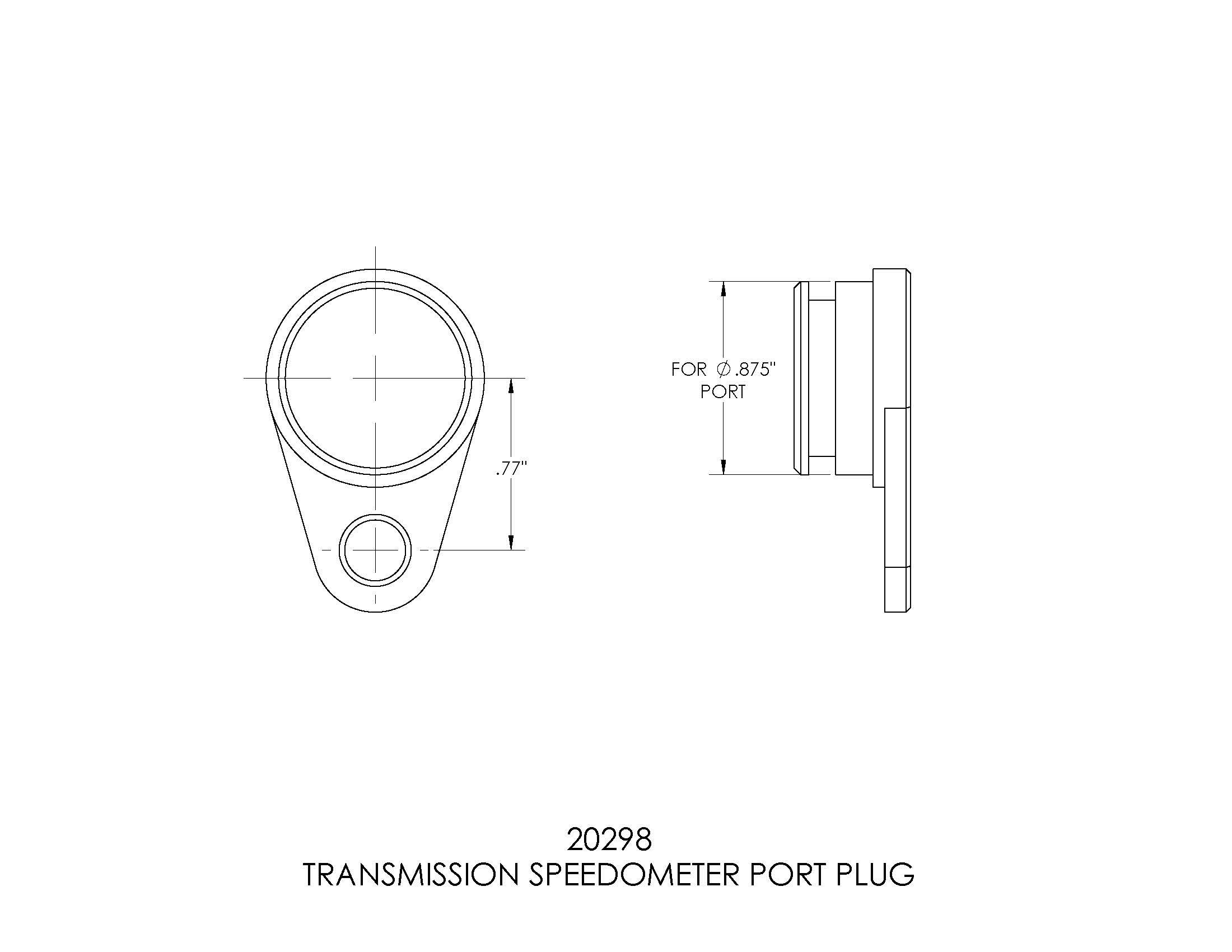 B&M 20298 B&M Transmission Speedometer Port Plug