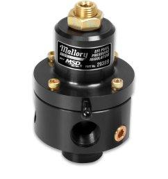 29389 mallory adjustable fuel pressure regulator for efi image [ 1500 x 1500 Pixel ]