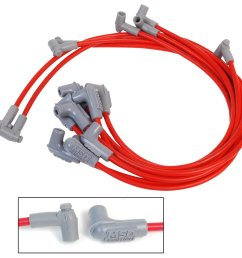 msd 31359 super conductor spark plug wire set small block chevy 350 hei31359 super conductor [ 1500 x 1412 Pixel ]