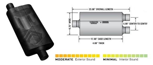 flowmaster 50 series delta flow muffler