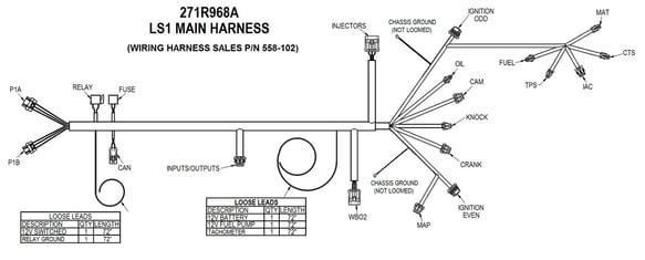 holley efi wiring harness diagram