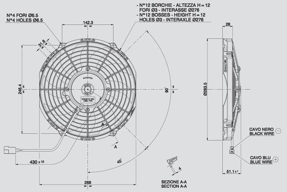 SPAL 30100435 SPAL Electric Fan