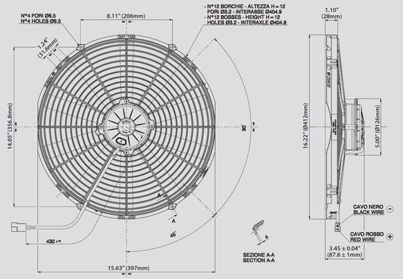 SPAL 30102120 SPAL Electric Fan