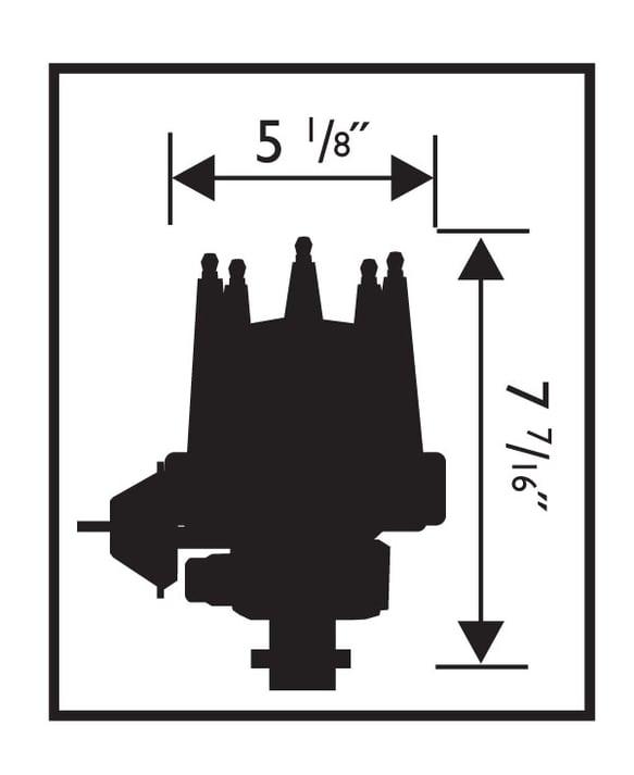 MSD 8572 Corvette V8 Tach DriveDistributor w/Vacuum Advance