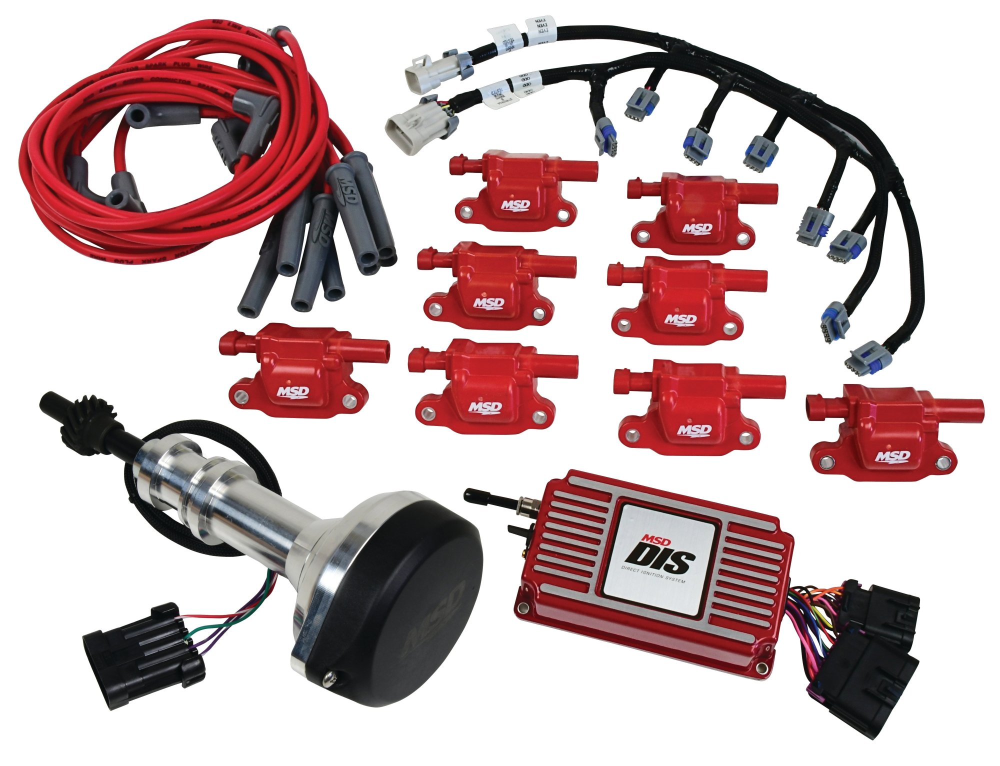 hight resolution of 60153 dis kit small block ford 351w red image