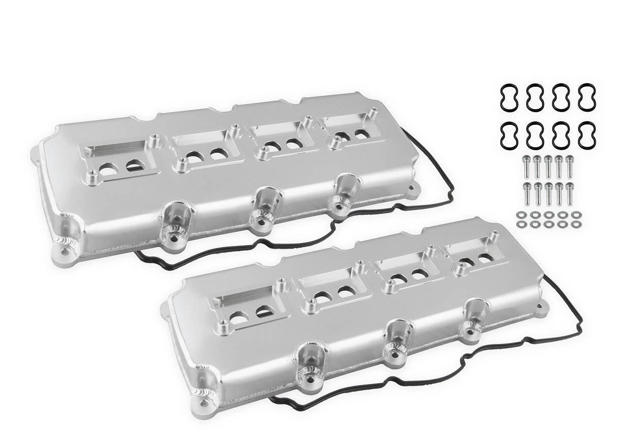 hight resolution of 68501g mr gasket fabricated valve covers silver finish image