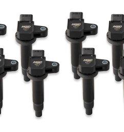 822183 blaster coil 98 10 toyota lexus 4 7l v8 black [ 2100 x 1500 Pixel ]