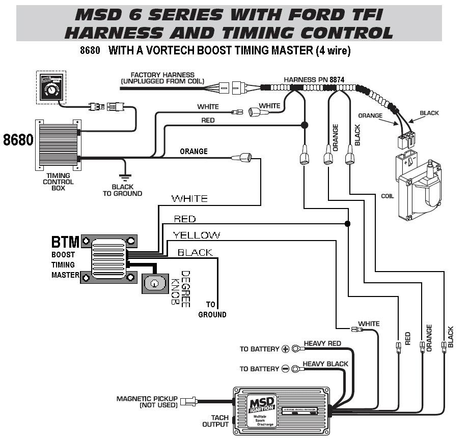 medium resolution of 6 series timing control tfi harness 86801 with a vortech btm rh holley com wiring diagram msd timing control 8680 msd 6al wiring diagram