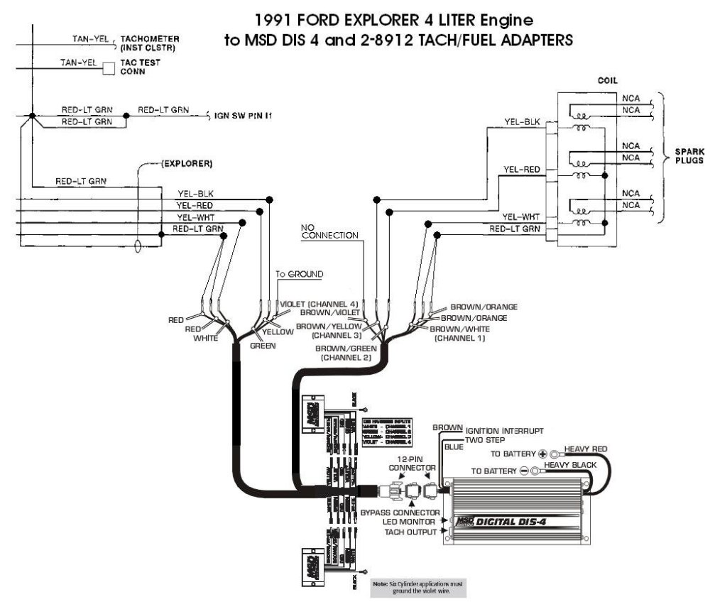 medium resolution of ford 91 explorer 4l dis 4 with 8912s holley blog perma cool wiring diagram msd dis 4 wiring diagram
